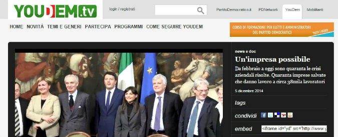"""YouDem, video su aziende """"salvate"""" dal governo Renzi: ma sono ancora in crisi"""
