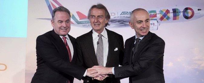 """Alitalia-Etihad, Montezemolo: """"Inizia una nuova era"""". I dipendenti Cub protestano"""
