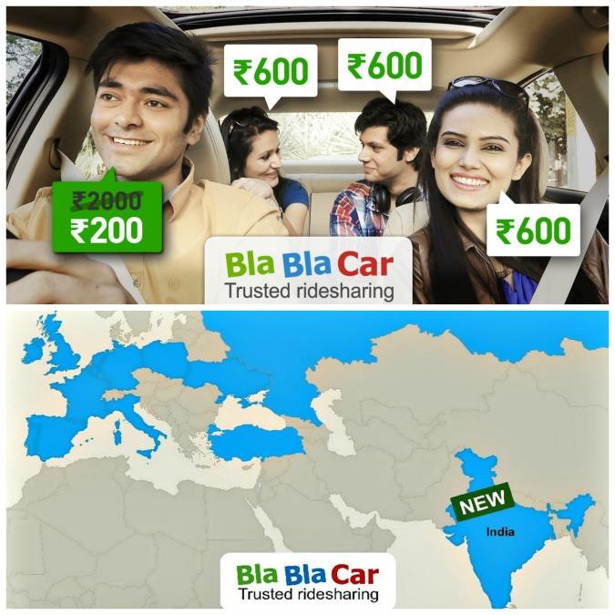 BlaBlaCar sbarca in India. L'app per farsi dare un passaggio è attiva in 14 Paesi