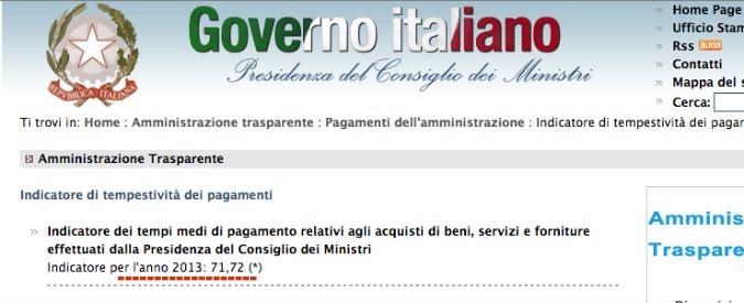 Pagamenti alle imprese, la beffa dei 30 giorni: Palazzo Chigi ci mette più del doppio
