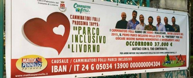 """Livorno, parco per bimbi normodotati e disabili: l'obiettivo dei """"Camminatori folli"""""""
