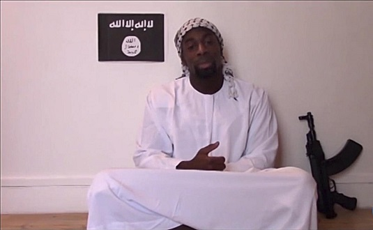 Amedy Coulibaly, one of gunmen behind the worst militant attacks in France for decades, declares his allegiance in this still image taken from video