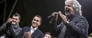 """Colle, M5S: """"No a incontro col Pd"""". E Grillo dal palco lancia un """"vaffa"""" a Renzi"""
