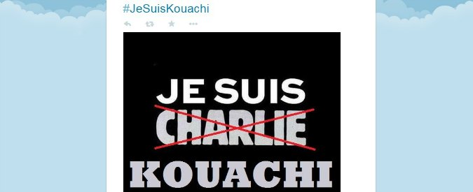 Charlie Hebdo, spunta #JeSuisKouachi. Jean-Marie Le Pen: 'Je ne suis pas Charlie'