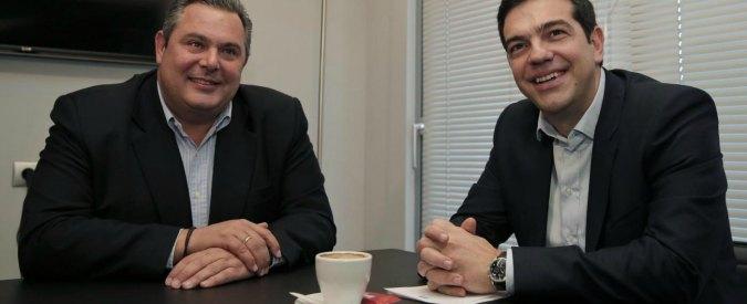 Elezioni Grecia: Tsipras al governo con Anel, conservatori avversari della Troika