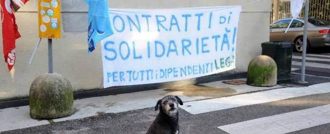 Lega Nord, dipendenti riuniti contro i licenziamenti. Ma lontano da via Bellerio