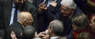 """Colle, selfie con Napolitano. Bersani a M5S: """"Fidatevi di me, Mattarella va bene"""""""