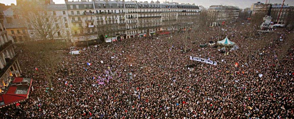 Terroristi Parigi, oltre un milione di persone alla marcia repubblicana