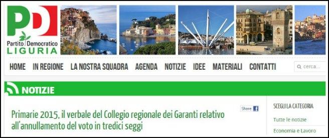 Primarie Liguria: foto, soldi e pressioni. Pd rende noti annullamenti in 13 seggi