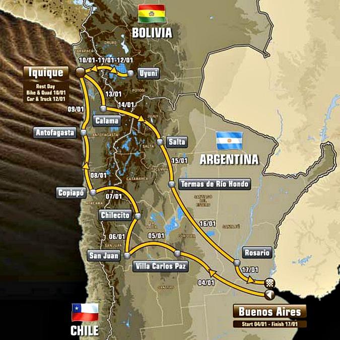 Dakar 2015 al via in Sudamerica, 9.000 km con tappe-maratona senza assistenza