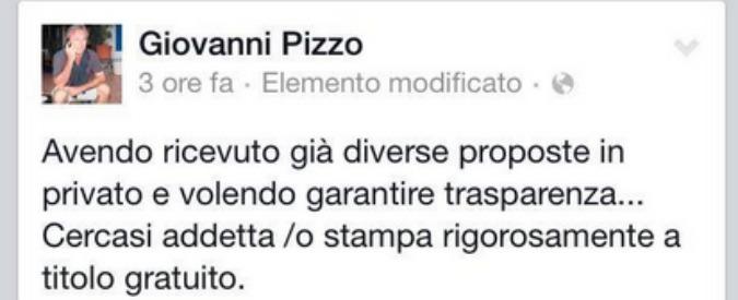 """Sicilia, assessore cerca addetto stampa """"gratis"""": """"In cambio, vita spericolata"""""""