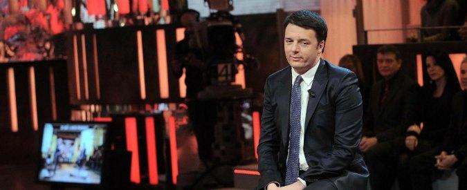 """Tv, Renzi: """"Trame, finti scoop e balle spaziali: ora capisco la crisi talk show"""""""