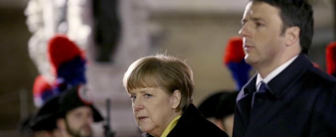 """Renzi a Frau Merkel: """"Mossa della Bce non basta, proseguiamo con riforme"""""""