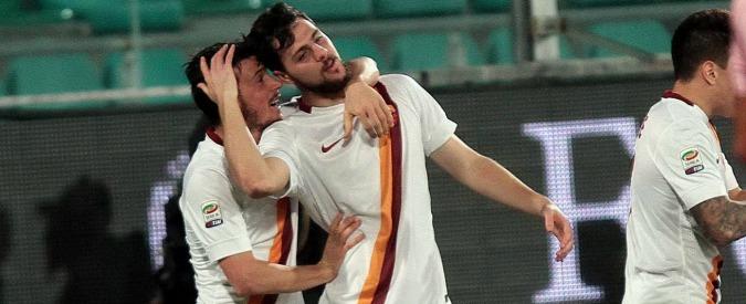 Palermo-Roma: 1 a 1. Giallorossi subito sotto, ma Destro pareggia nella ripresa