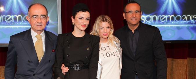 Sanremo 2015: Rocio Muñoz Morales, Emma Marrone e Arisa al fianco di Conti