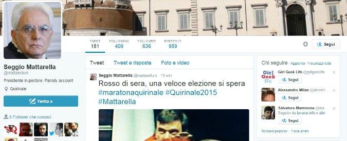 Presidente della Repubblica, su twitter il fake di Sergio Mattarella: @mattarellum
