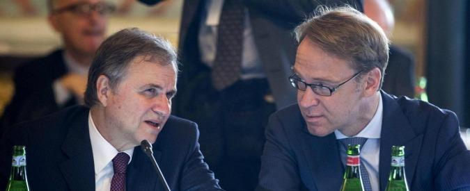 Quantitative easing, Weidmann contro piano di Draghi. Mentre Visco lo difende