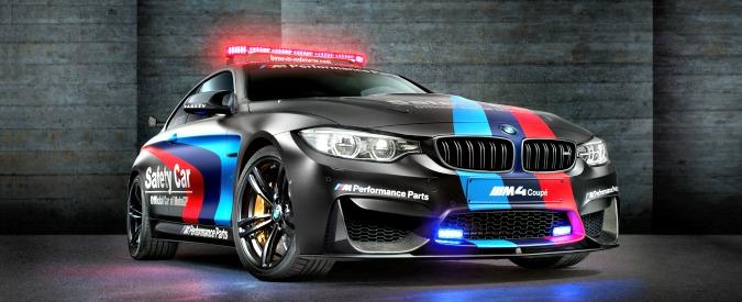 BMW M4 Safety Car al MotoGP 2015. L'iniezione d'acqua aumenta la potenza