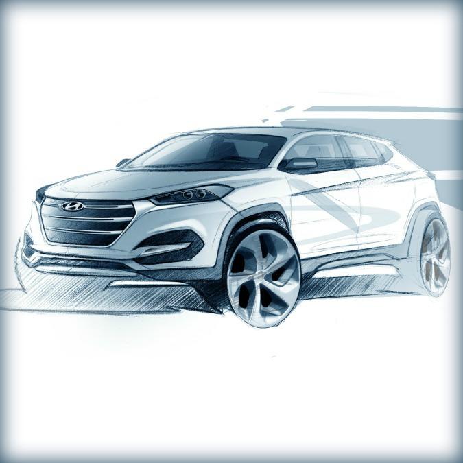 """Hyundai Tucson, primo bozzetto. L'erede dell'ix35 torna al nome """"globale"""""""