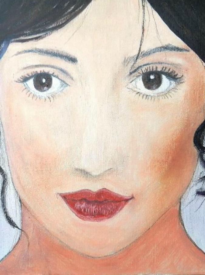 """Anna de Rosa, la pittrice eco-sostenibile che dipinge con materiali di riciclo: """"La mia musa è Frida"""""""