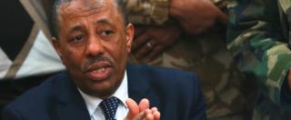 Libia, Al Thani: 'Mondo intervenga o Isis arriva in Italia'. Renzi: 'Per ora no guerra'