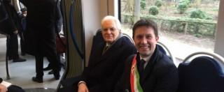 Sergio Mattarella a Firenze si sposta in tram per cerimonia a Scandicci