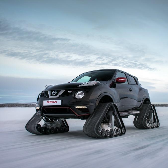 Nissan Juke Nismo RSnow, la strana Suv con cingoli. Per ghiaccio e neve fresca