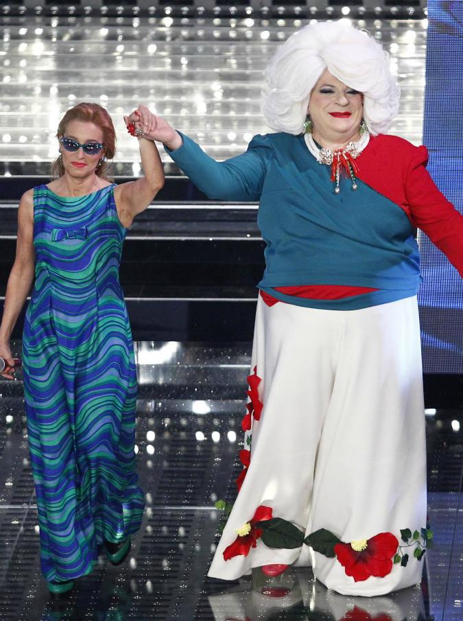 """Sanremo 2015, Di Michele e Coruzzi: """"Hanno definito Platinette 'scempio umano'. Noi, al festival contro la discriminazione"""""""