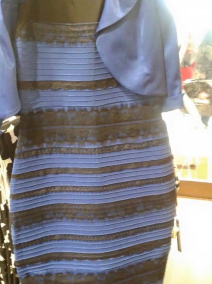 quality design 4e959 73edf Vestito bianco e oro o nero e blu: