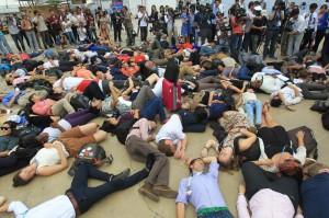Proteste alla conferenza sul Clima di Lima