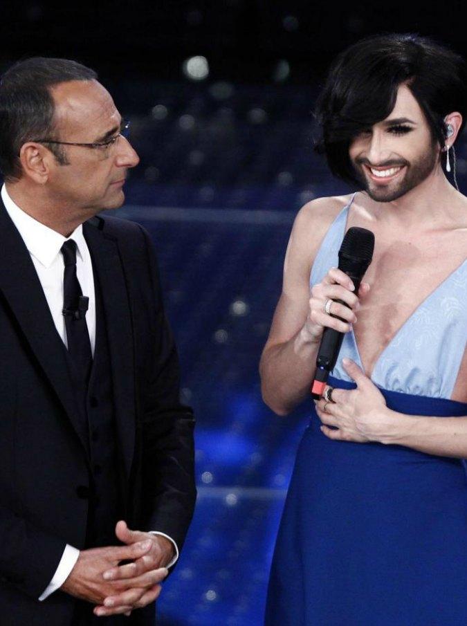 """Sanremo 2015, Conchita Wurst smentisce Conti: """"Sorpresa che mi abbia chiamato Tom"""""""