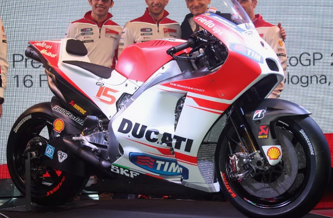 Un primo piano della Ducati Gp15