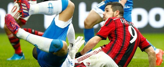 Milan-Empoli 1-1, i rossoneri deludono nonostante Destro. E San Siro fischia