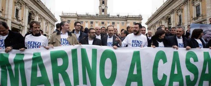Colle, delegazione Lega da Mattarella. Salvini contestato in Campidoglio