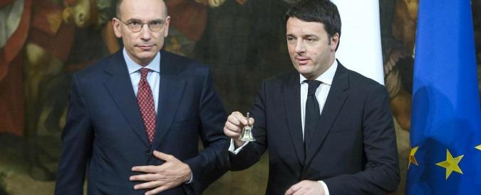 Banca Etruria, Enrico Letta attacca Renzi sulla Boschi: 'Moralità a intermittenza'. Il premier: 'Non sta in piedi'