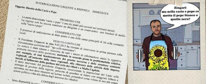 Amatriciana, Zingaretti vs Cracco. M5S Lazio fa interrogazione su cacio e pepe