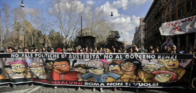 #maiconsalvini: Roma antifascista e meticcia dice no a Salvini, ma i media tacciono