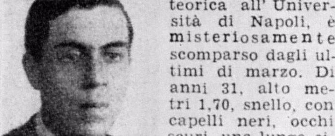 Ettore Majorana, né omicidio né suicidio. Il mistero sul fisico scomparso continua