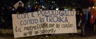 Grecia, 15mila in corteo contro Bruxelles. La solidarietà delle piazze italiane