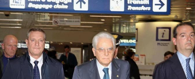 Mattarella in visita privata a Palermo con volo di linea, prima volta di capo di Stato