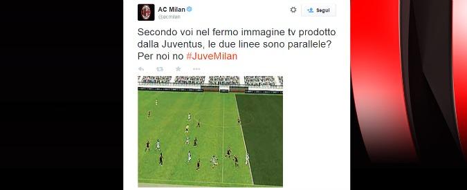 """Milan, polemica su fermo immagine del gol: """"Juve fa vedere quello che vuole"""""""