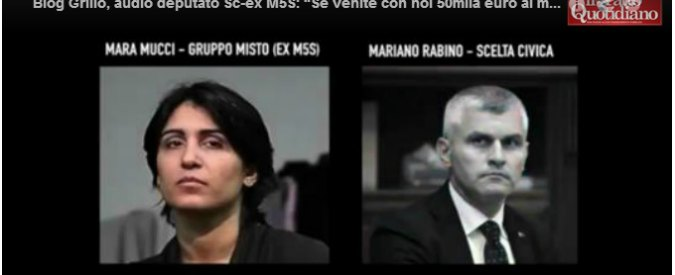 "Blog Grillo, audio deputato Sc-ex M5S: ""Se venite con noi 50mila euro al mese"""