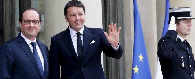 """Francia, vertice tra Renzi e Hollande: """"Rafforzare Triton. Nessun freno a Tav"""""""