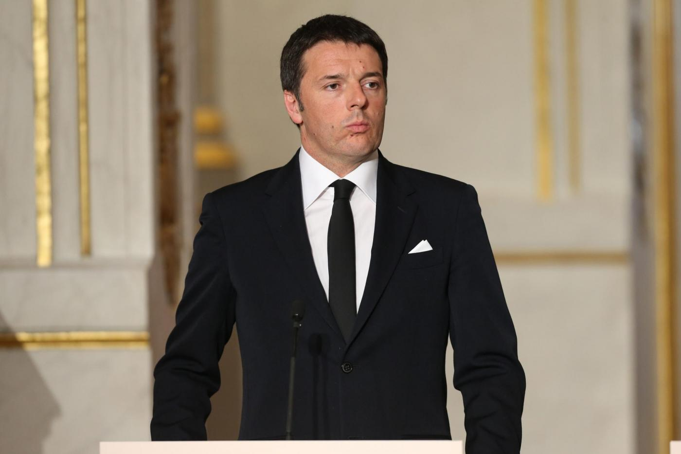 Economic summit french-italian at elysee palace