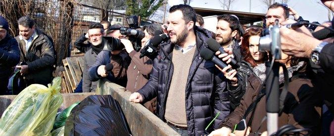 """Salvini visita campo rom a Milano: """"Io li demolirei tutti, ma tranquilli, c'è Pisapia"""""""