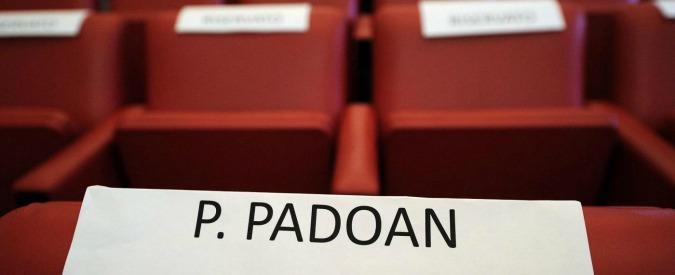 """Agenzie di rating, Padoan non si costituisce parte civile. Pm: """"Sorpreso"""""""