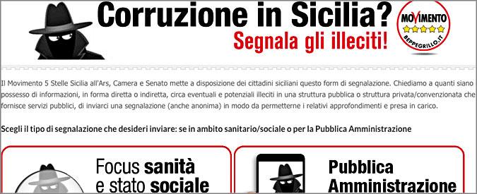 Sicilia, inaugurato il sito del M5S per denunciare tangenti e corruzione