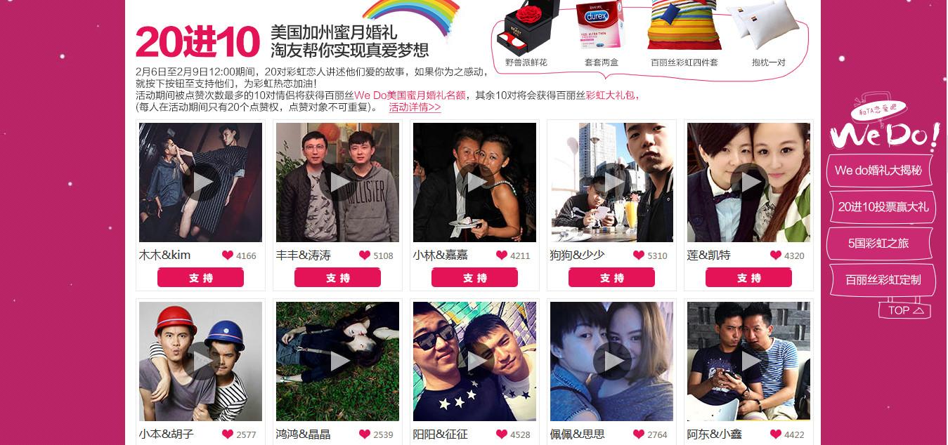 Matrimoni gay in Cina, il regalo di Alibaba per San Valentino