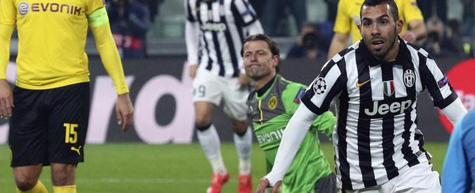 Juve – Borussia, bianconeri cinici vincono 2-1 grazie a Morata e Tevez