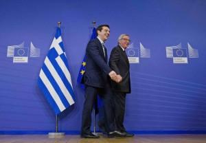 Bruxelles, Alexis Tsipras incontra Jean-Claude Juncker in commissione UE